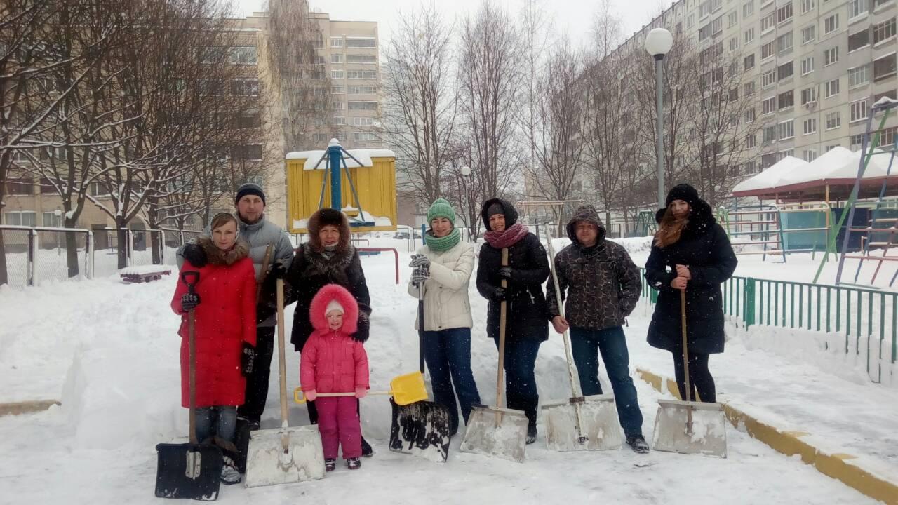 Уборка снега во дворах норматив